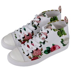 Roses 1770165 1920 Women s Mid Top Canvas Sneakers by vintage2030