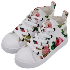 Roses 1770165 1920 Kid s Mid Top Canvas Sneakers by vintage2030