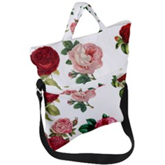 Roses 1770165 1920 Fold Over Handle Tote Bag by vintage2030