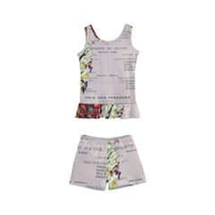 Letter Floral Kid s Boyleg Swimsuit by vintage2030