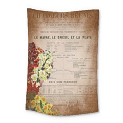 Letter Floral Small Tapestry by vintage2030
