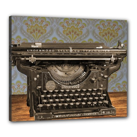 Typewriter Canvas 24  X 20  (stretched) by vintage2030