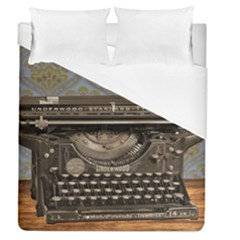 Typewriter Duvet Cover (queen Size) by vintage2030