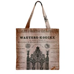 Building News Zipper Grocery Tote Bag by vintage2030