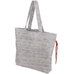 Handwritten Letter 2 Drawstring Tote Bag by vintage2030