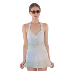Page Spash Halter Dress Swimsuit