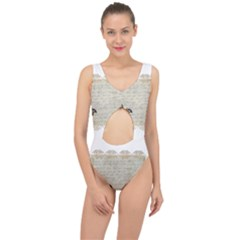 Tag Bird Center Cut Out Swimsuit