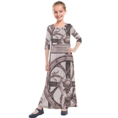 Lottery Kids  Quarter Sleeve Maxi Dress