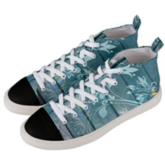 Green Tree Men s Mid Top Canvas Sneakers by vintage2030
