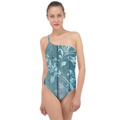 Green Tree Classic One Shoulder Swimsuit