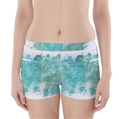 Splash Teal Boyleg Bikini Wrap Bottoms by vintage2030