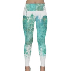 Splash Teal Lightweight Velour Classic Yoga Leggings