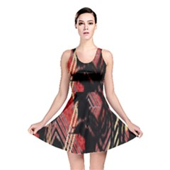 Decorative Red Creative Design By Flipstylez Designs Reversible Skater Dress