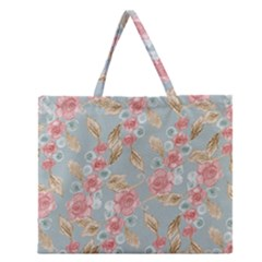 Background 1659236 1920 Zipper Large Tote Bag by vintage2030