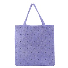 Dot Blue Grocery Tote Bag by vintage2030