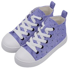 Dot Blue Kid s Mid Top Canvas Sneakers by vintage2030