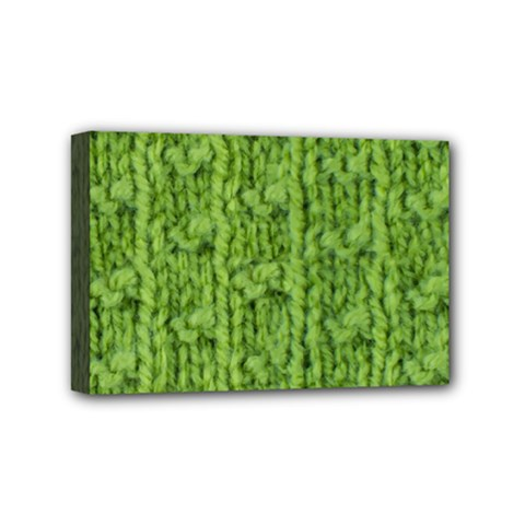 Knitted Wool Chain Green Mini Canvas 6  X 4  (stretched) by vintage2030