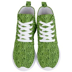 Knitted Wool Chain Green Women s Lightweight High Top Sneakers by vintage2030