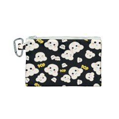 Cute Kawaii Popcorn Pattern Canvas Cosmetic Bag (small) by Valentinaart