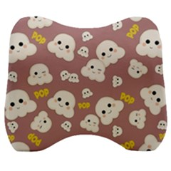 Cute Kawaii Popcorn Pattern Velour Head Support Cushion by Valentinaart