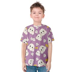 Cute Kawaii Popcorn Pattern Kids  Cotton Tee