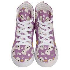 Cute Kawaii Popcorn Pattern Men s Hi Top Skate Sneakers
