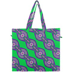 Purple Chains On A Green Background                                               Canvas Travel Bag by LalyLauraFLM