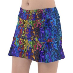 Colorful Waves                                                Tennis Skirt
