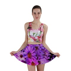 Pink Garden Flowers Mini Skirt by bloomingvinedesign