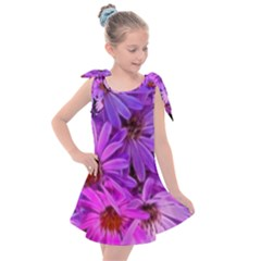 Pink Garden Flowers Kids  Tie Up Tunic Dress by bloomingvinedesign