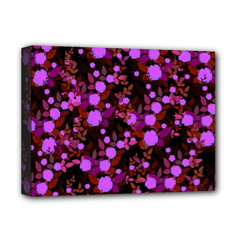 Purple Red  Roses Deluxe Canvas 16  X 12  (stretched)  by snowwhitegirl