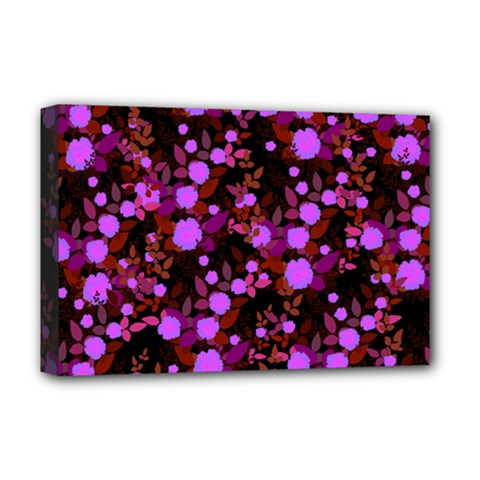 Purple Red  Roses Deluxe Canvas 18  X 12  (stretched) by snowwhitegirl