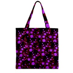 Purple Red  Roses Zipper Grocery Tote Bag by snowwhitegirl