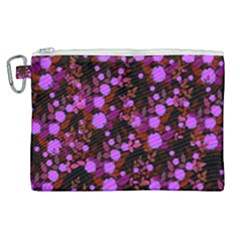 Purple Red  Roses Canvas Cosmetic Bag (xl) by snowwhitegirl