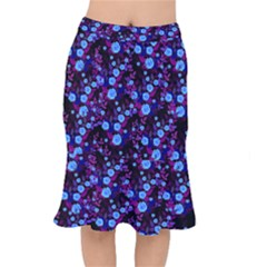Purple Blue  Roses Mermaid Skirt by snowwhitegirl