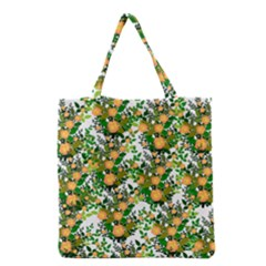 Peach Roses White Grocery Tote Bag by snowwhitegirl