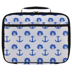 Vintage Face Anchor Blue Full Print Lunch Bag by snowwhitegirl