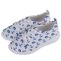 Vintage Face Anchor Blue Women s Lightweight Sports Shoes by snowwhitegirl