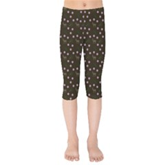 Brown Deer Trees Pattern Kids  Capri Leggings  by snowwhitegirl