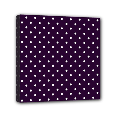 Little  Dots Purple Mini Canvas 6  X 6  (stretched) by snowwhitegirl