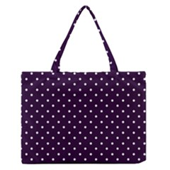 Little  Dots Purple Zipper Medium Tote Bag by snowwhitegirl