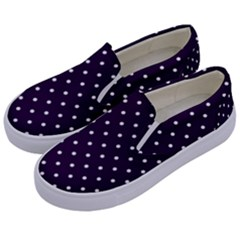 Little  Dots Purple Kids  Canvas Slip Ons by snowwhitegirl