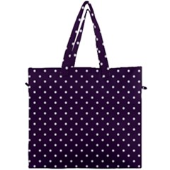 Little  Dots Purple Canvas Travel Bag by snowwhitegirl