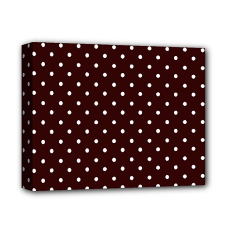 Little  Dots Maroon Deluxe Canvas 14  X 11  (stretched) by snowwhitegirl