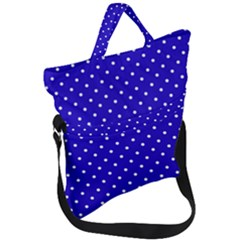 Little  Dots Royal Blue Fold Over Handle Tote Bag