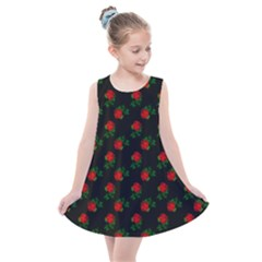 Red Roses Black Kids  Summer Dress