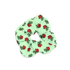Red Roses Green Velvet Scrunchie by snowwhitegirl