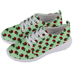 Red Roses Green Men s Lightweight Sports Shoes by snowwhitegirl