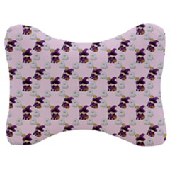 Little Witch Ghosts Pink Pattern Velour Seat Head Rest Cushion