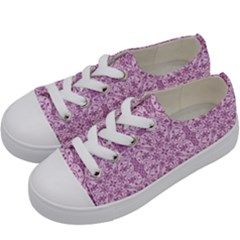 Ornamental Pink Kids  Low Top Canvas Sneakers by snowwhitegirl